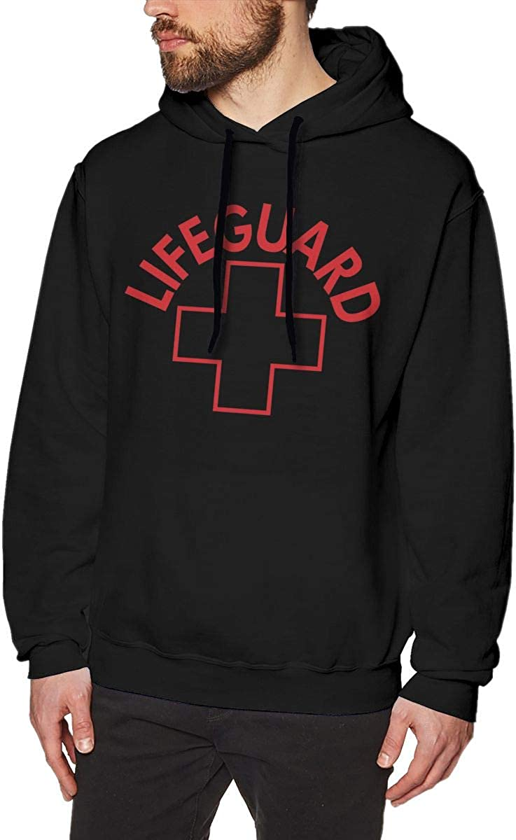 Marsherun Mens Lifeguard Gear Logo Pullover Fleece Hoodies Sweatshirt