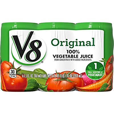 V8 100% Vegetable Juice, Original 5.5 Ounce (Pack of 6) from V8