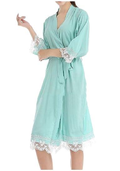 Amazon.com  Zimaes-Women Belt Sexy Lace Cozy Robes Cotton Housecoat Spa Robe   Clothing 91ba58de0