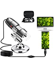 USB Microscope Camera 40X to 1000X, Cainda Digital Microscope with Metal Stand and Carrying Case Compatible with Android Windows 7 8 10 Linux Mac, Portable Microscope Camera
