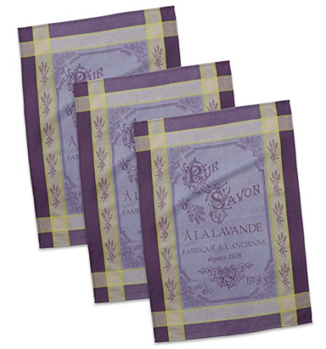 DII Cotton French Jacquard Dish Towels, 20x28 Set of 3, Decorative Tea Towels for Everyday Kitchen Cooking and Baking-Pure Savon