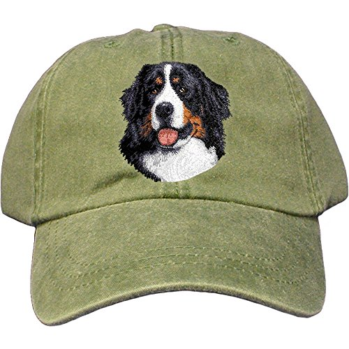 Cherrybrook Dog Breed Embroidered Adams Cotton Twill Caps - Spruce - Bernese Mountain Dog - Mountain Dog Hat