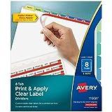 Avery My Recipe Binder Starter Kit, 1 Set of 8 Tab Dividers, 5 Each of 2 Pocket Recipe Card Protectors, 10 Sheet Protectors (19915)