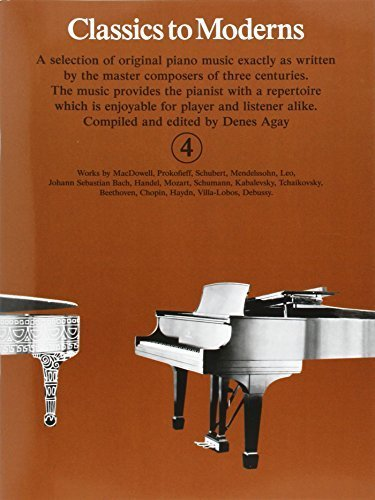 Classics to Moderns: For Piano: Bk.4 - Mall Yorktown