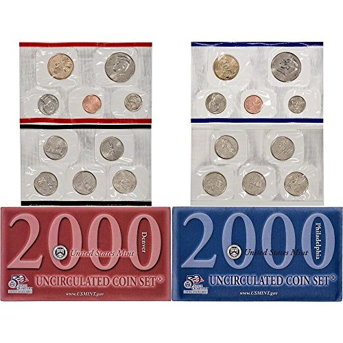 2000 P&D US Mint Uncirculated Coin Mint Set Sealed Unicirculated (Journey Coin Set)