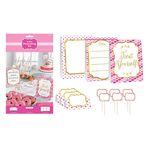 Pink Buffet Table Decorating Kit - Pink Decorating Kit