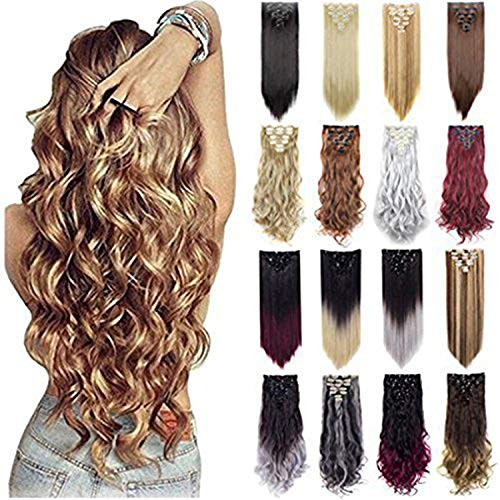 Grade 7A 160g 23-24 Inch Real Thick Double Weft Clip In Hair Extensions ()