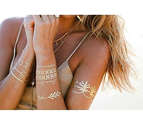 Kit tatuajes dorados y metalizados en varios diseños mws1706/2 ...