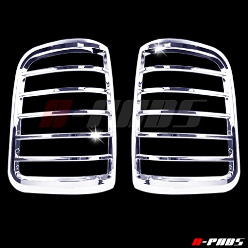 A Pads Chrome Tail Light Covers For Ford F150 2004 2008 Rear Lights Taillight Pair