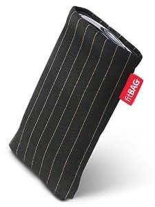 Twist Black fitBAG-Funda con tapa para Sony Ericsson Xperia X10. Tejido de calidad con forro de microfibra para limpieza de pantalla