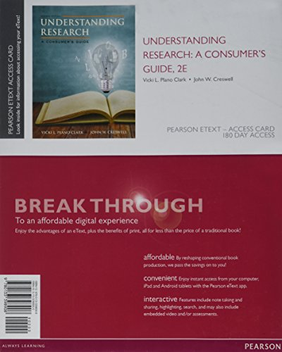 Understanding Research: A Consumer's Guide, Enhanced Pearson eText -- Access Card (2nd - With Brand A That Start Names