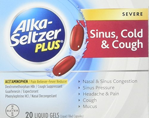 Alka-Seltzer Plus Severe Sinus, Cold & Cough Liquid Gels 20ct (Alka Cold Seltzer Sinus And)