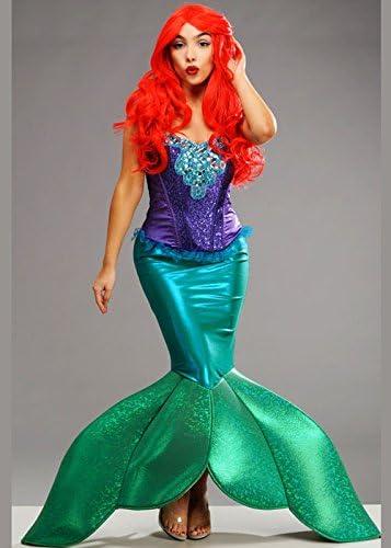 Delights Disfraz de Sirena Estilo Sirena pequeña para Mujer M (UK ...