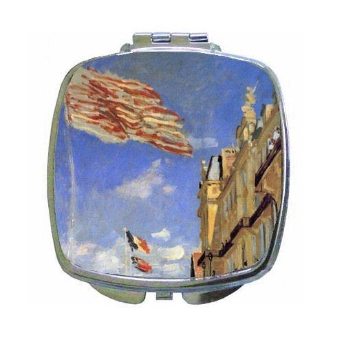 Hotel De Roches Noires A Trouville By Claude Monet Compact Mirror