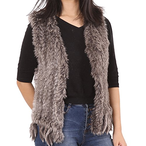YIDUODE Faux Fur Winter Vest, Womens Fashion Sleeveless Fluffy Snaggy Soft Warm Coat
