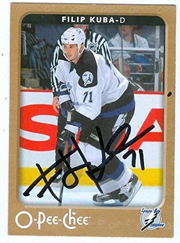 Filip Kuba autographed Hockey Card (2006-2007 O-Pee-Chee) - Autographed Hockey Cards