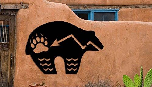 Bear Symbol - Zuni Bear Southwest Design - Home & Garden - Large (22 w x 14.75 h) Metal Art - Indoor - Outdoor Hand Made USA
