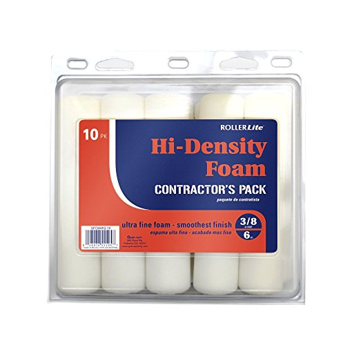 - Quali-Tech 6FOAMQ-10 6-Inch Rollerfoam Hi-Density Foam Rollers Contractor Pack Mini Rollers