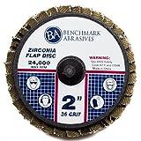 "Benchmark Abrasives 2"" Quick Change Roloc Zirconia"