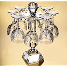 Crystal wine rack,Stemware holder Creative european upside down wine cup holder living room decoration-D 36x26cm(14x10inch)
