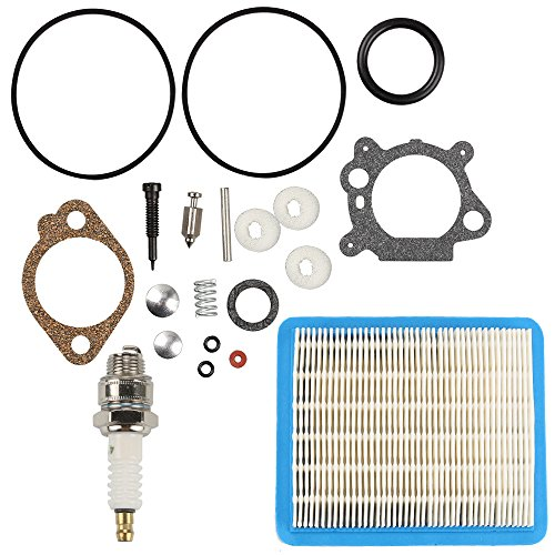 Anzac Carburetor Overhaul Carb Rebuild Air Filter Kit for Briggs & Stratton 498260 492495 493762 5 HP Quantum Engine Lawn Mower Yard Machine Sears Craftsman 4 Cycle Snowblower Snow Thrower (Briggs & Stratton 498260 Carburetor Overhaul Kit)