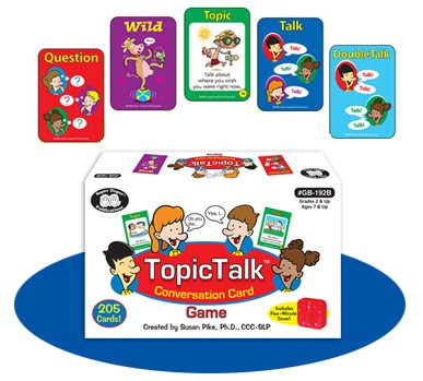 TopicTalk Conversation Card Game with Five Minute Timer - Super Duper Fun Educational Toy for Kids - Kid Talk Conversation Cards Game