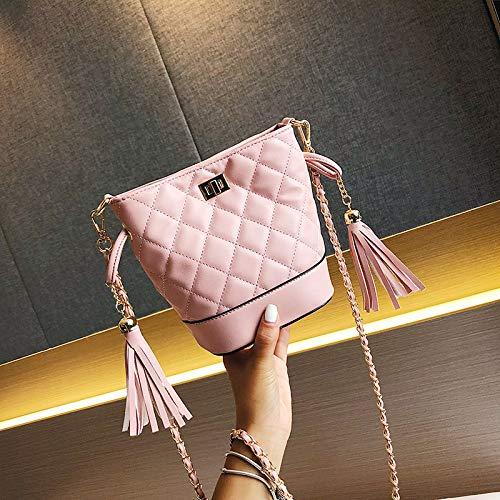 rosa di selvaggia della Borsa coreana bag spalla selvaggia della di moda versione WSLMHH borsa femminile borsa marea piccola catena nero Lingge Messenger p1nBHpqtwx
