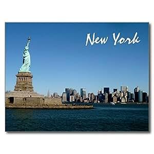 ailovyo Lady Liberty relojes más de Nueva York de goma antideslizante entrada camino al aire libre decoración de interior alfombra Doormats, 23.6x 15.7-inch