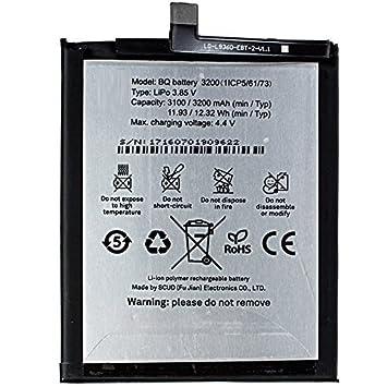 Todobarato24h Bateria Compatible con BQ Aquaris X5 Plus 3200 mAh Voltaje 4.4v