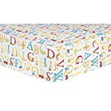 Trend Lab Dr. Seuss ABC Fitted Crib Sheet, Red/Yellow/Green