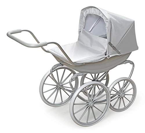 Badger Basket London Doll Pram ,fits American Girl Dolls, Gray ()
