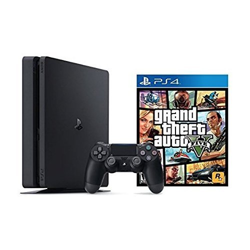 Playstation Slim 1TB Console + Grand Theft Auto V Bundle (2 - Artículos)