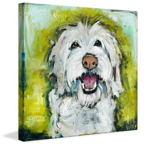 Marmont Hill Smiley Dog by Tori Campisi Painting Print
