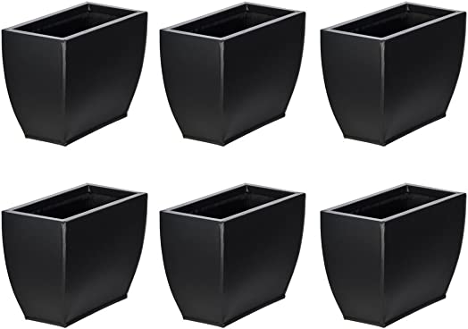 Matte Black 509 Small Zinc Vase – Set of 6