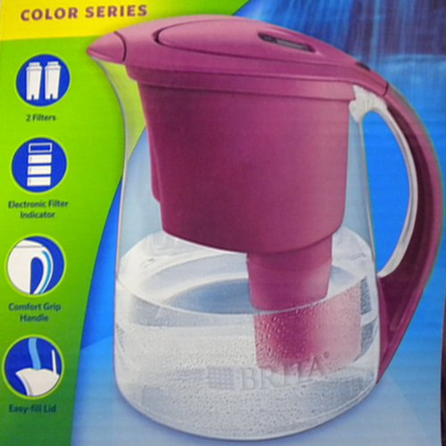 Brita Water Filtration System Kit: 1 Pitcher (Large Capacity) Plus 2 Fliters - Purple by Brita (Brita Water Pitcher Fliter compare prices)