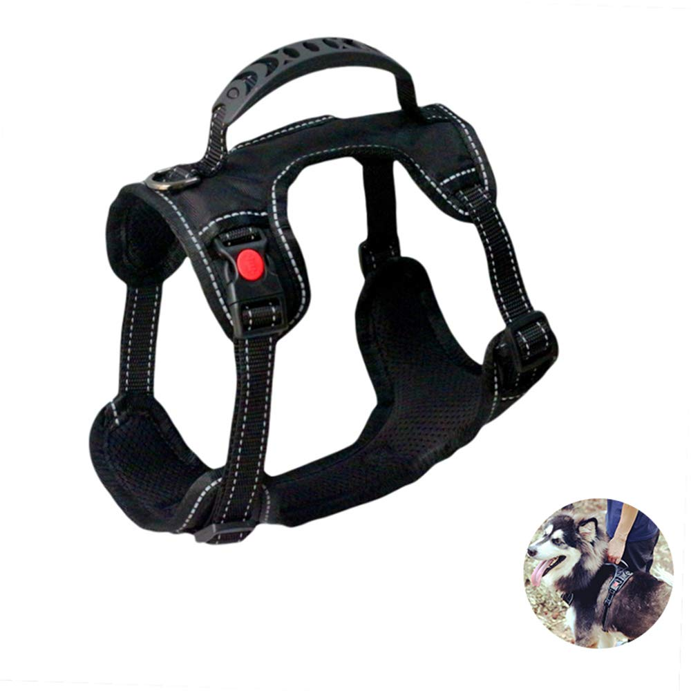 L Dog Harness Vest with Handle,No-Pull Pet Vest Harness Daily Use Reflective Breathable Dog Harness for Medium, Large Dogs,L