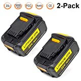 LENOGE 20V 5.0Ah Lithium Replacement Power Tool Battery for Dewalt Max XR DCB204 DCB205 DCB205-2 DCB200 DCB180 DCD985B DCD771C2 DCS355D1 DCD790B Cordless Power Tools 2-Pack