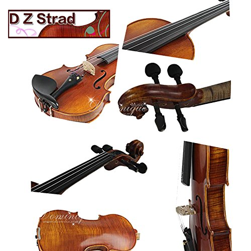 D Z Strad Viola Model 120 Handmade 16 inch viola with Case, Shoulder Rest, Rosin and Bow-16'' by D Z Strad
