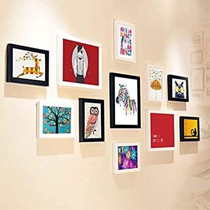 IKISSU Blanca Marcos 8x10 hogar colorido decoración de la oficina y 5x7 Marcos Conjuntos 135cm *