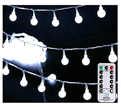 [Remote & Timer] 33Ft Globe String Lights 100LED Fairy Twinkle Lights