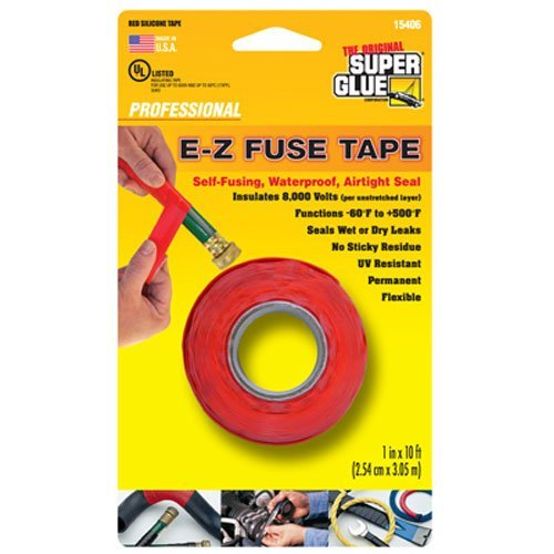 SUPER GLUE Corp/Pacer TECH 15406-12 Red Silicone Tape, 1
