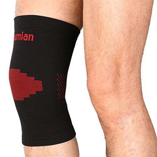 Leg & knee Guard Sleeve Crashproof Antislip Basketball Leg Knee Sleeve Protector 1 piece by M-Egal (L)