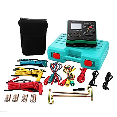 Happybuy Multimeter Insulation Tester 4 In 1 Insulation Tester Insulation Megohm Digital Earth Resistance Tester Voltmeter Phase