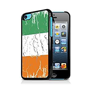 Cote d'lvoire Weathered Flag Apple iPhone 5C Black Cell Phone Case