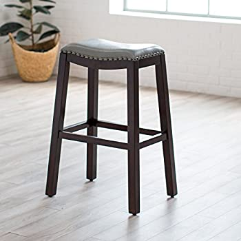 Amazon Com Domestic Home 32 Inch Seat Height Leather Bar