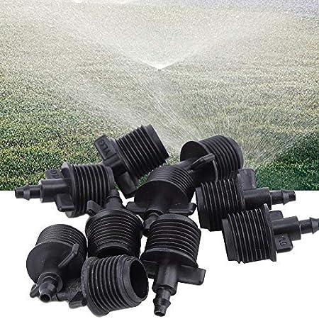 Kit de Adaptador de Tubo de púa Sistema de riego para jardín 10 Piezas 1/2