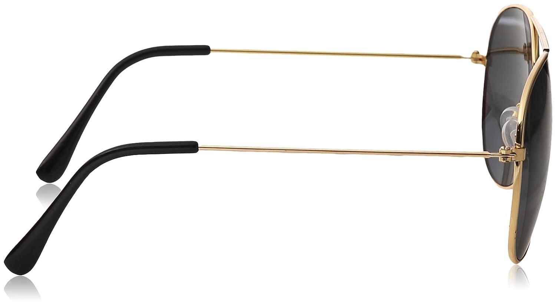 d625fb85744 Amazon.com  WearMe Pro - Polarized Metal Frame Pilot Style Aviator  Sunglasses (Spring Hinge  Gold Black