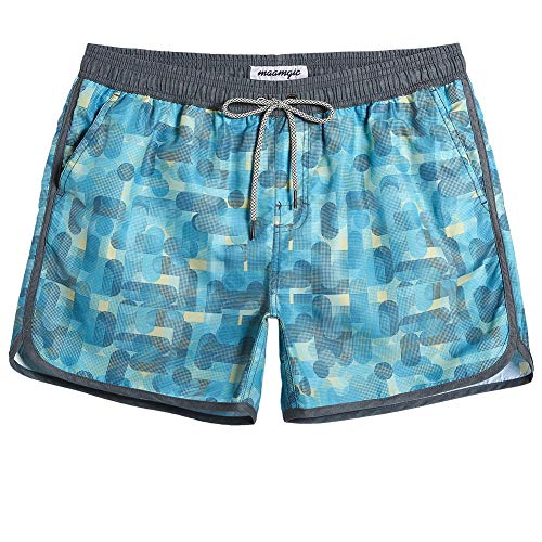 MaaMgic Mens Classic Swim Trunks Retro Vintage Swim Shorts 90s 80s Swimsuits with Mesh Lining Quick Dry Board Shorts ()
