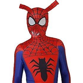 - 51ndyv7yGXL - Spider-Man Into The Spider-Verse Costume Spin Vision Spider-Ham Cosplay Zentai Suit