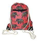 Ever Moda Elephant Print Drawstring Backpack